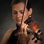 A portrait image of Orsi playing the violin